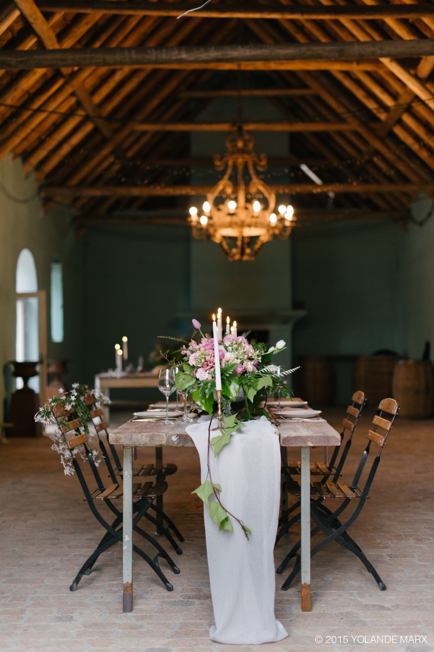Blush and gold Hawksmooir Editorial with Yolande Marx + Kadou Floral Design