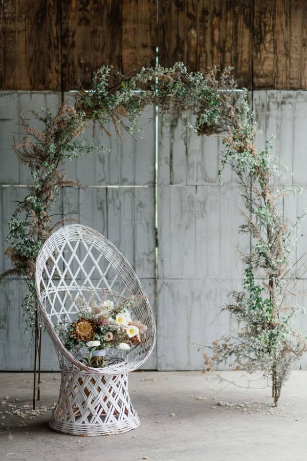 Wicker wedding inspiration with Debbie Lourens + Kadou Floral Design