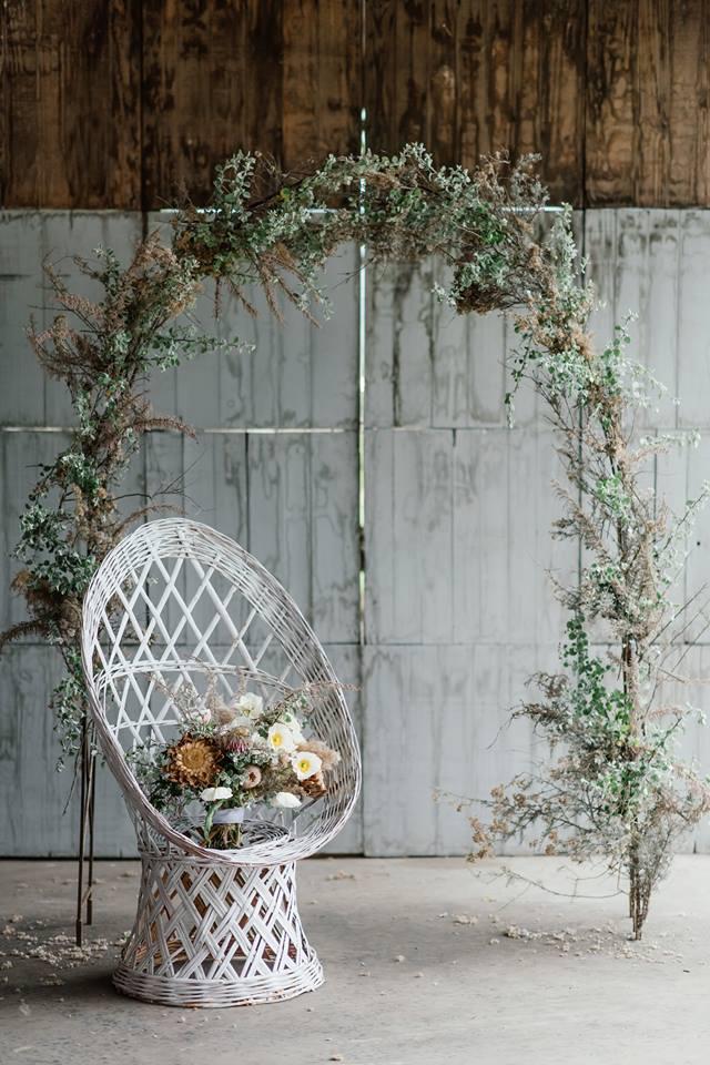 Wicker wedding inspiration with Debbie Lourens + Kadou Floral Design