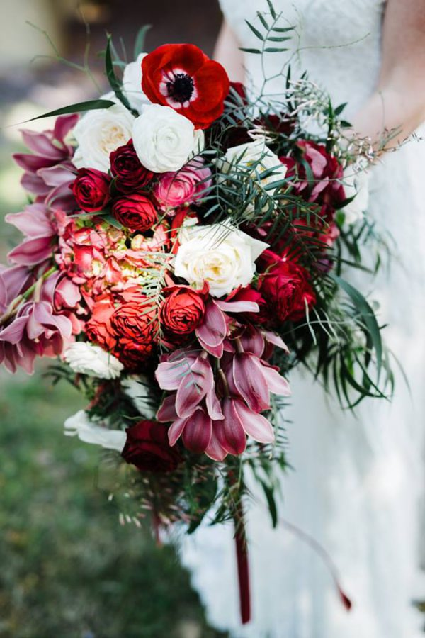 Bridal bouquet with Thunder & Love Wedding Photography + Kadou Floral Design