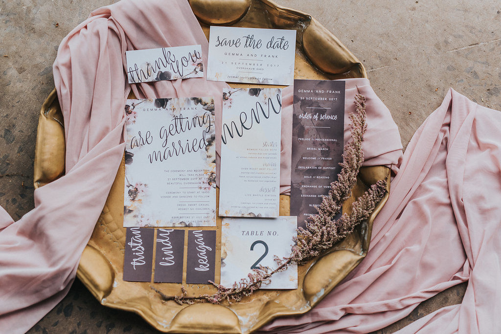 Beautiful pale pink and dried textures makes for the perfect autumn wedding.