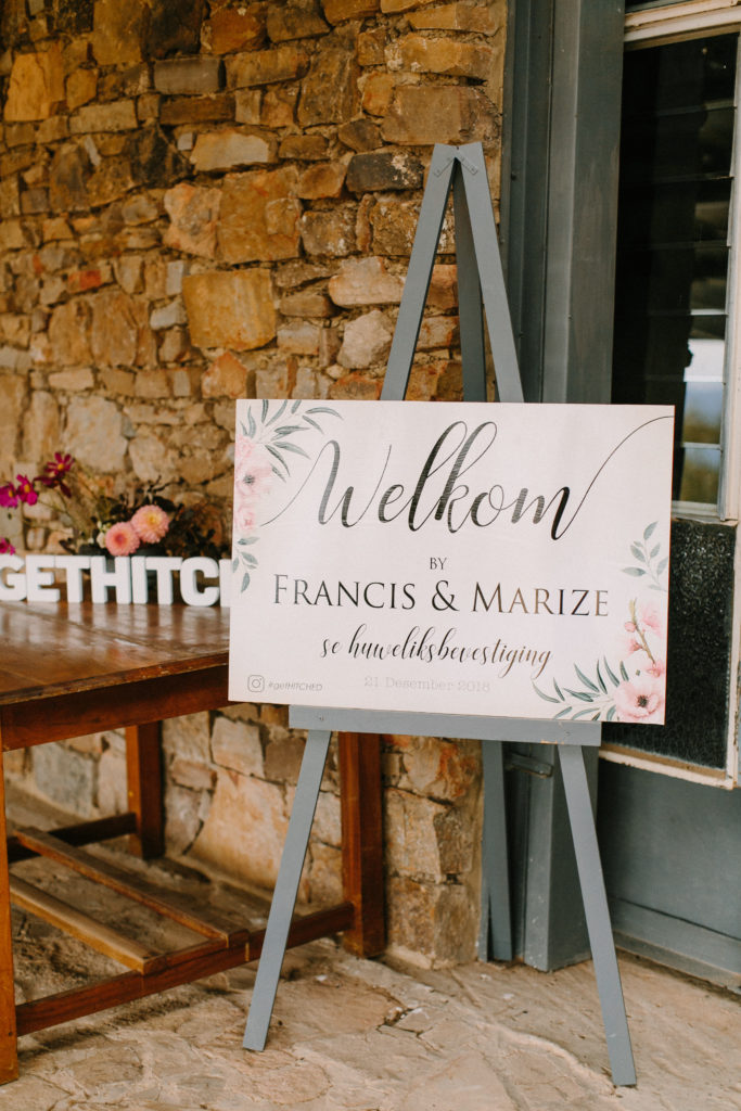 Beautiful Ceres Wedding in South Africa with anthiriums, roses, dry textures and installations.